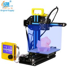 CREALITY 3D Cheap Color 3d PrinterCR-7 Full Metal+Mainboard 12864LCD No heating bed, Print 3D Covered Nozzle Safe Gift For Kids