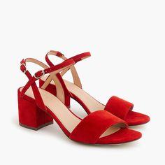 J.Crew - Strappy block-heel sandals (60mm) in suede