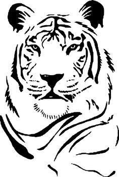 Tiger Face Vinyl Wall Art Size 60cm x 4cm £10.99 Free UK P&P www.wearewallart.com