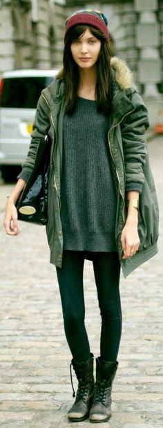 Model style : Amanda Hendrick #StylistMuse Fashion Clothes. Winter outfit