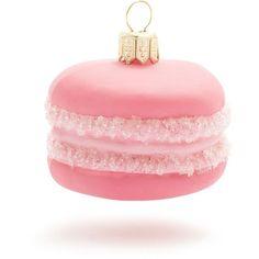 pink macaron ornament at sur la table