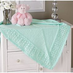 Mary Maxim - Heart Border Blanket - 20% Off All Afghans - Promotions
