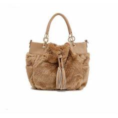 Plüsch-Pelz Handtasche