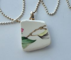 Vintage Broken Dish Necklace Recycled Jewelry by BellaCosaArt,