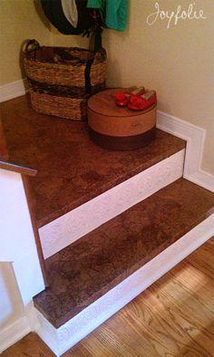 Brown paper floor... cost effective alternative to wood {Joyfolie}
