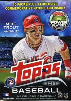 2014 Topps Series 1 MLB Baseball Exclusive Factory Sealed Retail Box with 10 Packs+EXCLUSIVE SPECIAL COMMEMORATIVE PATCH Card !   Your #1 So...