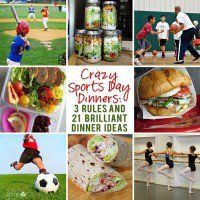 Crazy Sports Day Dinners: 3 Rules & 21 Brilliant Dinner Ideas