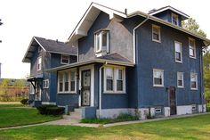blue stucco house - Google Search