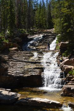 Upper Prove Falls, Utah Uinta Mountains
