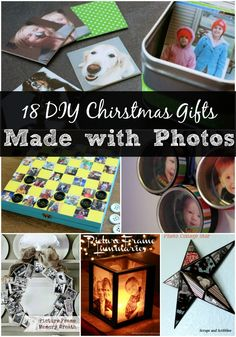 DIY Christmas gifts made with photographs are the perfect gift for the family member who has everything. You'll love these 18 creative and fun gift ideas.