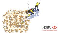 HSBC QR Code Local Banks, Free Advertising, Guerrilla, Experiential, Branding Design, Social Media, Qr Codes, Message Board, Creative