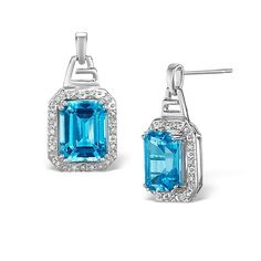 Find your special 'something blue' - Blue topaz and white gold earrings