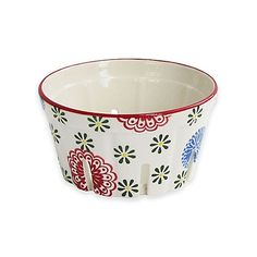 Floral Berry Basket in Red