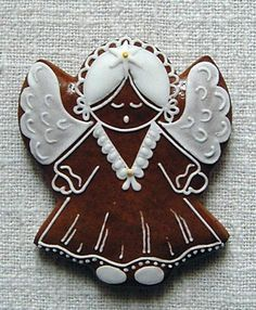Christmas Gingerbread Men, Gingerbread Cookies, Christmas Cookies, Crazy Cookies, Mini Cakes, Christmas Angels, Biscotti, Cookie Decorating, Clay