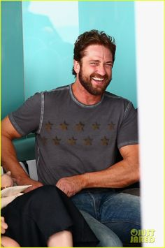 Gerard Butler's Smile is Irresistible at the Ellery Fashion Show | Gerard Butler Photos | Just Jared