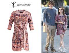 Emma Roberts wearing an Isabel Marant 'Maryloe' mankolam-paisley jersey dress Know More