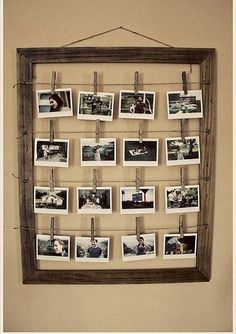 Wedding Table Planner in Wooden Frame