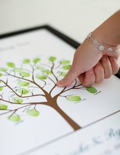 Family tree thumbprints...I would love to do this with my grands. ;)