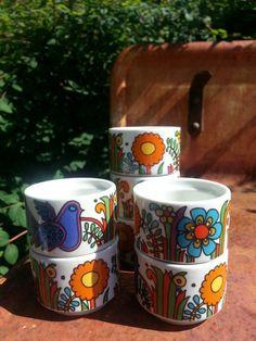 Retro 60s Villeroy and Boch Acapulco egg cups
