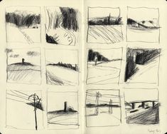 Landscape Sketch, Landscape Drawings, Art Sketches, Art Drawings, Graphic Novel, Thumbnail Sketches, Artist Sketchbook, Moleskine Sketchbook, Art Et Illustration