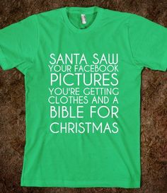 SANTA KNOWS - glamfoxx.com - Skreened T-shirts, Organic Shirts, Hoodies, Kids Tees, Baby One-Pieces and Tote Bags