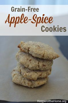 These apple-spice cookies have a light sweetness and soft texture; they're a perfect grain-free treat for the holidays. As an added bonus, they are extremely easy to prepare! Just toss everything in the food processor and blend. These cookies are wel