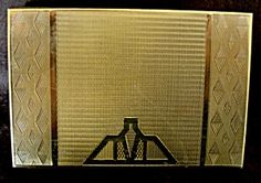 Zenette Gold Tone Powder Compact