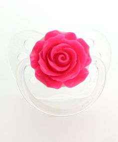 Look what I found on #zulily! Crystal Dream Hot Pink Rose Pacifier by Crystal Dream #zulilyfinds