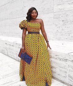 Queen one shoulder dress. #africanprint #ankaradress #ankarastyle #africanfashion #ad