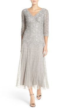 f799e6a283e Pisarro Nights Beaded Mesh Drop Waist Dress (Regular  amp  Petite)  available at