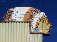 Old neon sign at the former Navajo Motel.