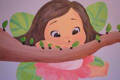 Cute fairy wall art Τοιχογραφίες παιδικών δωματίων www.wallinart.gr