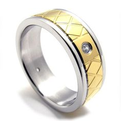 Jewelers Couples Titanium Steel Fashionable Ring Jewelry-Size 8