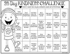 Today marks the start of Random Acts of Kindness Week and my students are not always the greatest at being kind to one another. For this reason, I've decided to start a 28-day Kindness Challenge in my classroom tomorrow in honor of #RAKWeek2017. Each student is given a challenge sheet with 28 ways they can be kind at school.