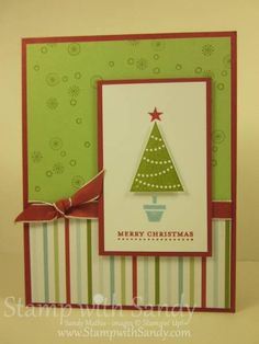 Pennant Parade Tree by stampwithsandy - Cards and Paper Crafts at Splitcoaststampers==