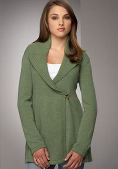 green sweater-yum!