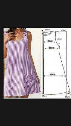 Summer Dress Patterns, Dress Sewing Patterns, Clothing Patterns, Fashion Sewing, Diy Fashion, Ideias Fashion, Make Your Own Clothes, Diy Clothes, Sewing Clothes Women