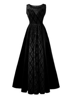 b0631c15c29 1950s Lace Plus Size Maxi Dress