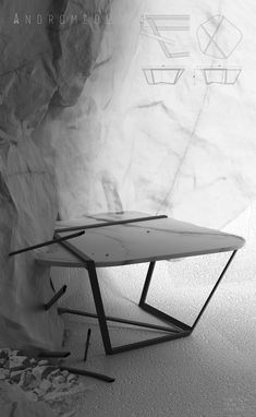 ANDROMEDE Par Tristan Fallon Promo 2015  Table basse  #ecolebleue #ecolebleueglobaldesign #designglobal #globaldesign #design #designer #youngdesigner #jeunedesigner  #table #tablebasse #marbre