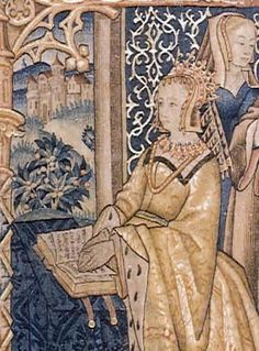 Margaret of Anjou, detail from tapestry in St Mary's Guildhall, Coventry