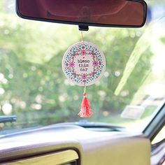 Car Coasters Cute Accessoriesrear View Mirror