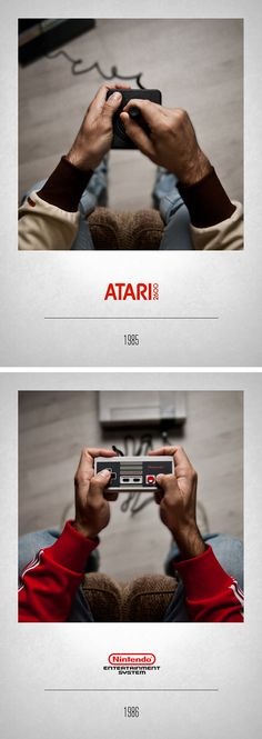 CONTROLLERS by Javier Laspiur, via Behance #Atari 2600 #Nintendo NES #VideoGame #RetroGame