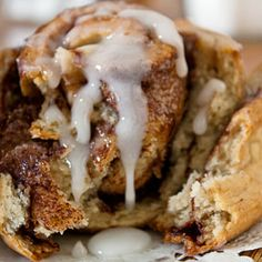 They say: Cinnamon rolls in under an hour! Just as good as their yeasted counterpart but so much easier and faster to make. If you don't have buttermilk, don't worry! Just add one tablespoon of either white vinegar OR lemon juice to one cup (minus one tablespoon) of milk. Let stand at least 5 minutes (it will thicken and look curdled~that's ok!) then use in recipe.