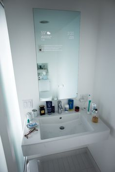 Google engineer Max Braun wanted his ordinary bathroom mirror to look more like the futuristic fixtures you'd see in the movies—the kind that transmit information directly onto the mirror. Though these smart products are not yet on the market, the parts for them are fairly easy to obtain. With this in mind, Braun decided to build his own mirror of the future. The impressive DIY project required both hi-tech and analog materials: a two-way mirror, display panel, controller board, components…