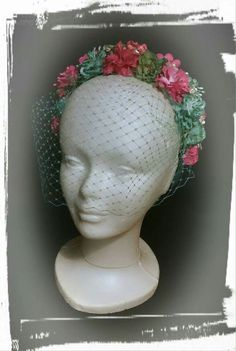 Tocado flores, bridal headpiece, headpieces, flower millinery