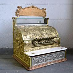 Brass American Cash Register
