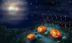 Free Halloween Background Wallpaper | To download a background... Right Click on the image you want and ...