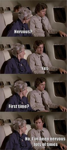 """People are pinning this and not realizing that this is the world's greatest movie """"Airplane"""" thank you very much."""