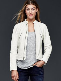 Leather moto jacket Product Image