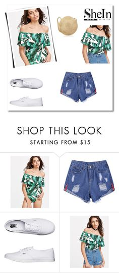 """""""tropical  shoulder bodysuit"""" by pegaz-769 ❤ liked on Polyvore featuring Vans"""